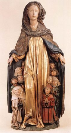 ERHART, Michael  Ravensburg Madonna of Mercy (1480s)  Painted limewood, height 135 cm  Staatliche Museen, Berlin