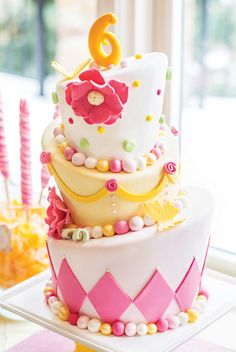 """This whimsical cake was inspired by our @Stevie Streck Designs """"Whimsical Cake Invitation""""> http://bit.ly/whimsycake"""