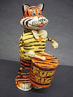 Antique Toy by Marx  Funny Tiger Wind Up (Image1)