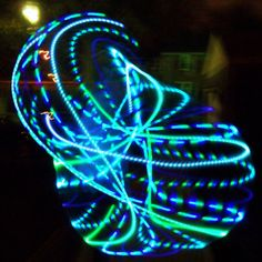LED Hula Hoop!  How awesome!