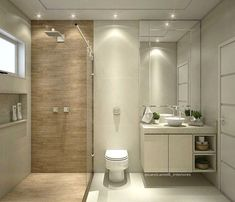 Get inspired by our best bathroom design ever. 25 Ideas That Make Small Bathrooms Feel Bigger. Before you contemplate moving, you need to check out this Small Bathroom Layout, Simple Bathroom, Bathroom Colors, Best Bathroom Designs, Bathroom Design Luxury, Luxury Bathrooms, Minimalist Small Bathrooms, Toilet Design, Bathroom Renovations