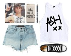 """Ashton Irwin 😍"" by miki1994 ❤ liked on Polyvore featuring T By Alexander Wang, Converse and Lord & Berry"