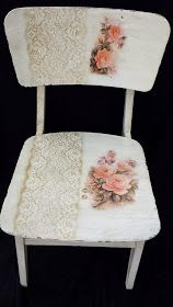 60 great ideas for Decoupage on chairs! Decopage Furniture, Decoupage Chair, Hand Painted Furniture, Paint Furniture, Repurposed Furniture, Shabby Chic Furniture, Furniture Makeover, Furniture Design, Shabby Chic Cottage