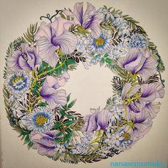 #floribunda #世界一美しい花のぬり絵book #レイラデュリー #leiladuly  #色鉛筆 #prismacolor  #プリズマカラー #coloring #adultcoloring #coloringforadult