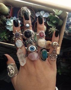 Hippie Jewelry, Cute Jewelry, Jewelry Rings, Jewelry Accessories, Fashion Accessories, Dainty Jewelry, Jewlery, Hippie Rings, Cheap Jewelry