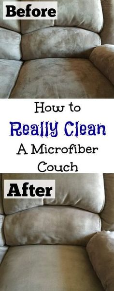 Cleaning Tip Tuesday: Cleaning A Microfiber Couch - Lemons, Lavender, & Laundry Microfiber is actually pretty easy to clean, if you know the right steps to take. Here is all the information you need for cleaning a microfiber couch. Deep Cleaning Tips, House Cleaning Tips, Diy Cleaning Products, Cleaning Solutions, Spring Cleaning, Cleaning Hacks, Diy Hacks, Cleaning Lists, Cleaning Schedules