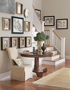 A large entryway can be a challenge. But instead, look at it as an opportunity to create a cozy gathering spot. A small dining table can fill space and serve its purpose as an extra space to dine with friends or family. HomeDecorators.com