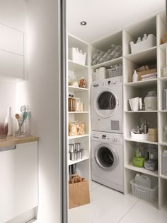 kitchen decoration – Home Decorating Ideas Kitchen and room Designs Small Laundry Rooms, Laundry Closet, Laundry Room Design, Laundry In Bathroom, Laundry Cabinets, Laundry Room Inspiration, Small Room Bedroom, Home Organization, Home Deco