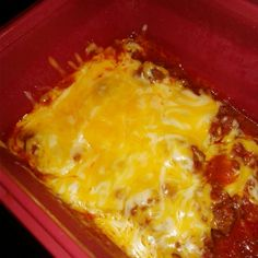 Homemade chilli with 3 cheese blend*