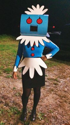 Halloween, I constructed my own Rosie costume! What a fantastic Halloween costume idea!What a fantastic Halloween costume idea! Halloween 2017, Holidays Halloween, Halloween Crafts, Happy Halloween, Halloween Decorations, Vintage Halloween, Homemade Halloween, Cartoon Halloween Costumes, Halloween Makeup
