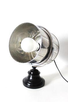 Ikea Hack  Materials: Fräck mirror frame, tin can, candlestick, lamp cord, power drill, bolts