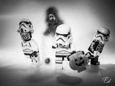 Are you afraid of the dark side? #LEGO #StarWars #Stormtroopers #Halloween
