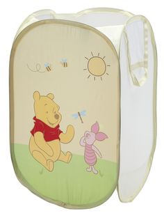Features:  -Pooh collection.  -Material: 100% Polyester.  -Machine wash warm with like colors, use non-chlorine bleach only when needed, tumble dry low heat, warm iron if desired. Wooden frame can be