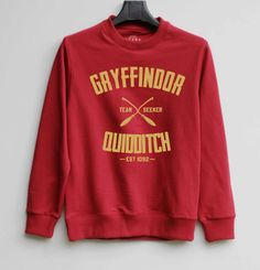 Gryffindor Shirt Harry Potter Quidditch Sweatshirt Sweater Hoodie Shirt – Size XS S M L XL - $29.99