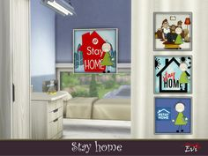 evi's Stay Home Home Id, Home Themes, My Building, Cute House, Sims Community, Sims Resource, Sims House, My Sims, Sims 4 Custom Content