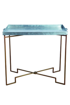 Gorgeous little metal and brass folding tray table.   www.hunterscollectors.co.uk