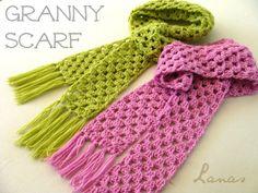 "Lanas Hilos: SCARF + HAT ""Granny Style"""