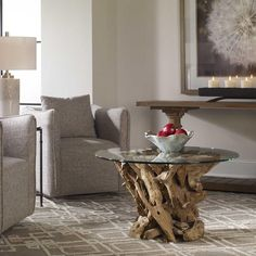 Are you ready to drift away into the weekend?⠀ Driftwood Coffee Table by @uttermostcompany⠀ A natural, unfinished teak driftwood sculpted into a sturdy table with a clear glass top.  #accenttable #coffeetable #table #livingroom #uttermostcompany #livingroomdesign #driftwood #design #interior4all #finedesign #interiordesign #interiorstyling #lovedesign #homedecor #interiordesigners #interiordecor #interiors #interiorstudio #designstudio #njinterior #customdesign #downtownsomerville