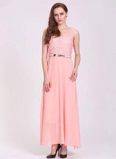 Aesthetic Peach Georgette Party Wear Western Gown - Luxefashion Internet Inc