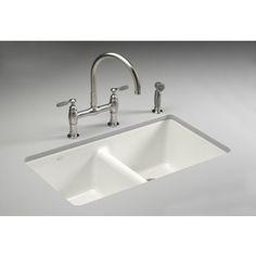 561 Needs To Be Er Kohler Anthem Double Basin Undermount Enameled Cast Iron Kitchen Sink