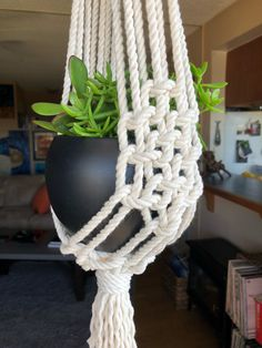 Excited to share the latest addition to my #etsy shop: Macrome Plant Hanger https://etsy.me/2GJCN2o #housewares #homedecor #macrame #entryway #wovenmacrame #macramewallart #wallart #walldecor #homeandliving