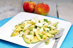 Avocado salade met appel en geitenkaas