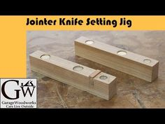 Clever jig for setting jointer blades