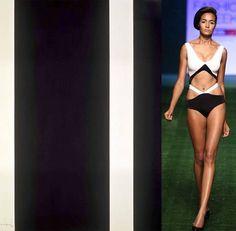 #BarnettNewman 13thStation(1966)  #ShivanandNarresh  Bandaged Monochromatic Trikini