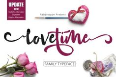 http://Love Time, a beautiful handwritten script. It's a fluid font that works well in many different types of projects. This professional looking font is easy to read and works well for marketing