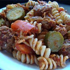 Chicken, Sausage and Zucchini Pasta Allrecipes.com