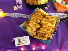 Braided rolls at a Tangled Party #tangled #partyfood: