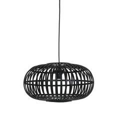 Hanglamp Indy bamboe zwart klein Ø 44cm kopen? hanglampen | KARWEI