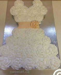 DIY Cupcake Wedding Dress Cake | Weddings/Parties | Pinterest ...