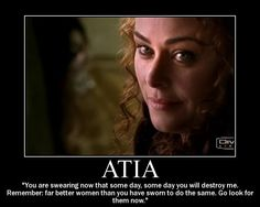 "Atia of the Julii, played by Polly Walker on HBO's ""Rome"".  Best. Quote. Ever."