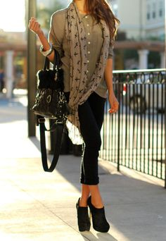cropped skinnies and booties