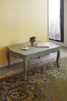 ビンテージ家具・アンティーク家具&照明 Kio > テーブル > コーヒーテーブル > アップルグリーンのリビングテーブル  https://www.facebook.com/yasuko.takahashi.969