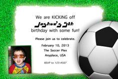 Custom Designed Sports Birthday Invitation by RSVPinvitationsbyme, $7.00