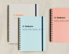 New pastel Delfonics rollbahn spiral notebooks