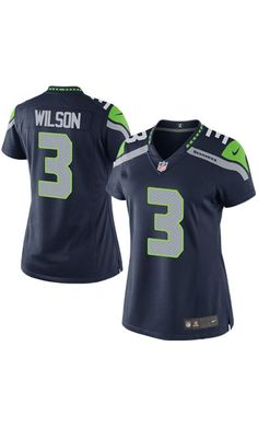 14ba31965 NFL Women s Seattle Seahawks Russell Wilson College Navy  Game  Jersey.  Seahawks Football