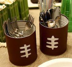 Silverware Caddie Cans. DIYdecor: #EsuranceFantasyTailgate