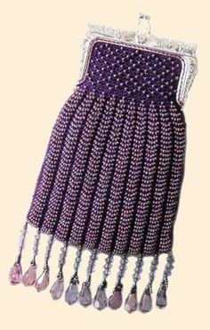 knitted bead purse