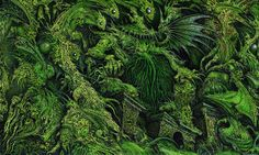 Ian Miller - Cthulhu by myriac, via Flickr