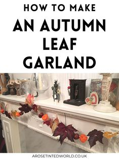 Autumn Crafts, Thanksgiving Crafts, Thanksgiving Decorations, Fall Garland, Leaf Garland, Autumn Flowers, Autumn Leaves, Conkers Craft, Leaf Crafts
