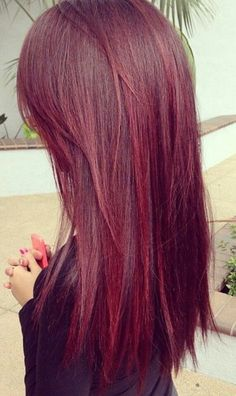 Deep red hair. #Hair #Beauty #Redheads Visit Beauty.com for more. I kind of want this done.