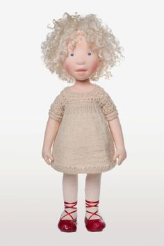 Michaela Handmade cloth doll by AldegondeCeelen on Etsy