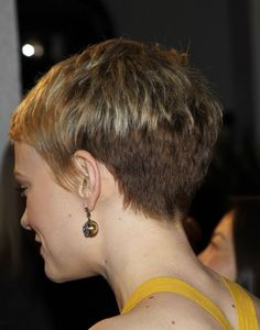 """The best pixie """"butt"""" I've ever seen. This is a pixie done right, with the right skull shape, hair texture, and nape of neck."""