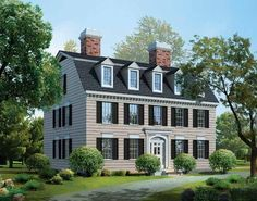 Eplans Adam - Federal House Plan - New England Classic - 3965 Square Feet and 4 Bedrooms from Eplans - House Plan Code HWEPL03294