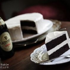 Dark Chocolate Guinness Cake with Bailey's Buttercream..that's right, if cake doesn't do the trick add booze to it!