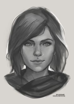 Lia OC Sketch [Giveaway] by sylessae on DeviantArt Fantasy Portraits, Character Portraits, Character Art, Dnd Characters, Fantasy Characters, Female Characters, Fantasy Inspiration, Character Design Inspiration, Realistic Drawings