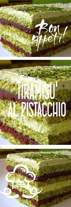 il tiramisù al pistacchio Italian Desserts, Just Desserts, Italian Recipes, Delicious Desserts, Yummy Food, Sweet Recipes, Cake Recipes, Dessert Recipes, Kolaci I Torte